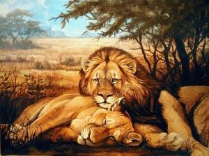 Anche quando si china, il leone è un leone