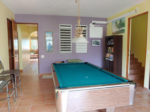 Pool Room on First Floor of 7 bedroom hosue