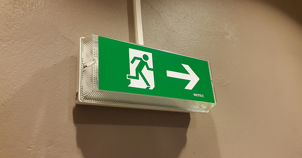 Exit Sign | Active Shooter | The Secure Dad