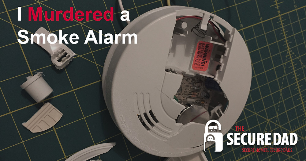 Smashed Smoke Alarm | The Secure Dad | Secure Dad | Family Safety | Fire Safety