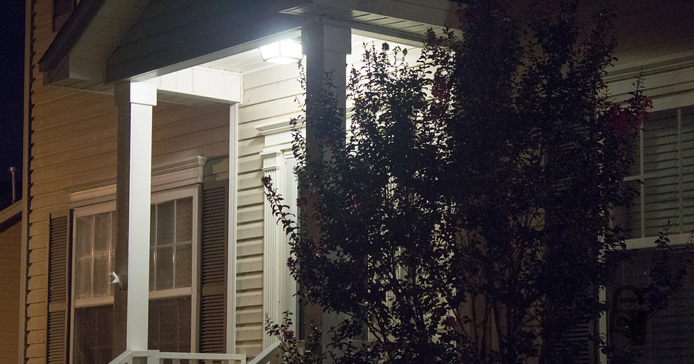 Home at night with porch light | The Secure Dad | Secure Dad Blog | Secure Dad