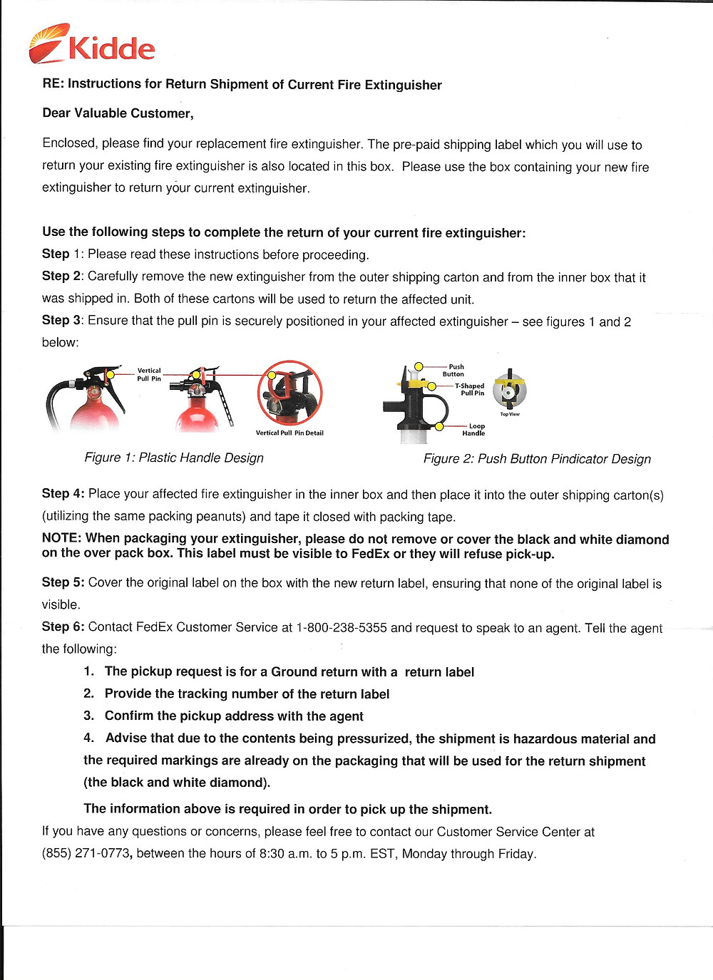 Kidde Fire Extinguisher Recall Letter | The Secure Dad