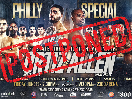 PHILLY SPECIAL POSTPONED