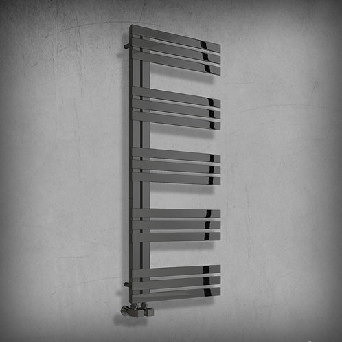 Adera 1200 x 500mm Anthracite Heated Towel Rail