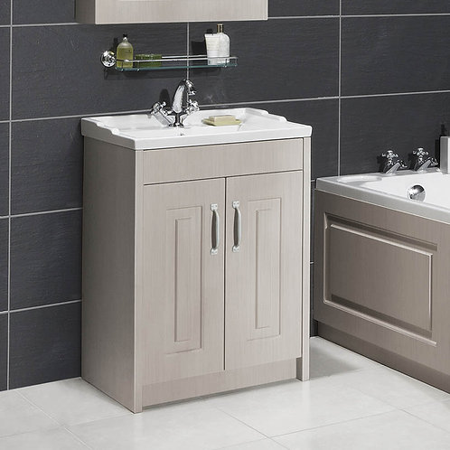 Nuie York Stone Grey Vanity Unit & Basin