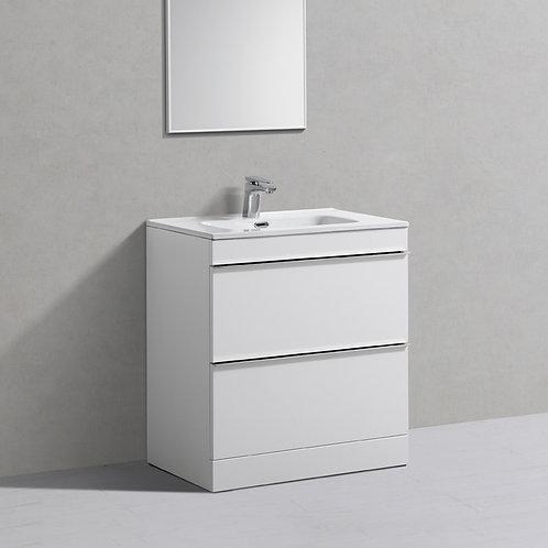 Castello White Freestanding Vanity Unit