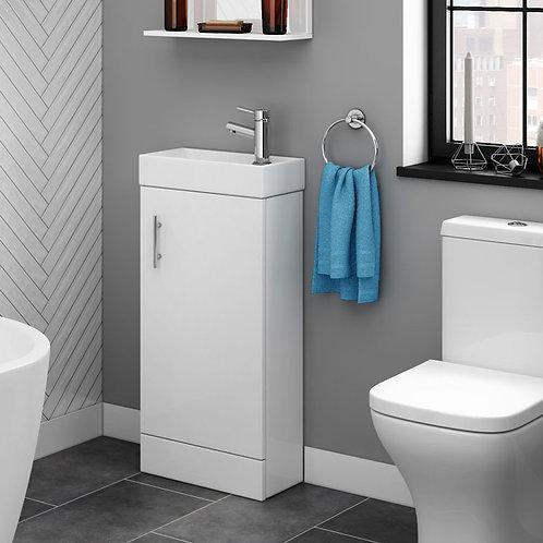 Cubix 400mm White Cloakroom Vanity Unit