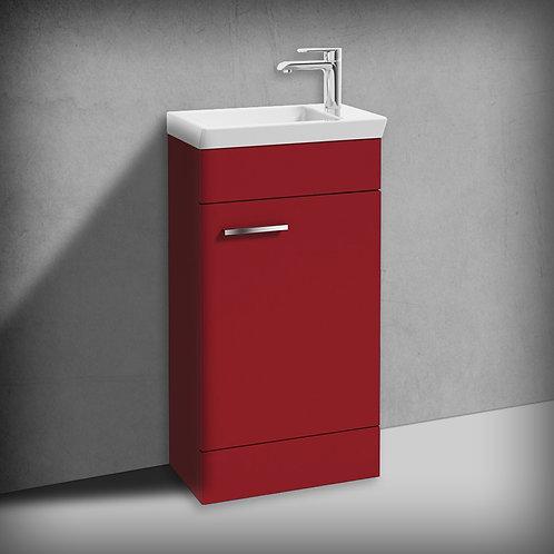 Charm Matt Red 450mm Floor Standing Vanity Unit