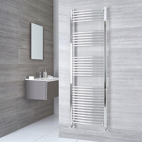 Aldo Chrome 1800 x 500mm Curved Heated Towel Rail