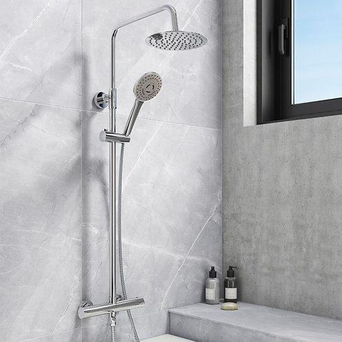 Fusion Round Exposed Shower Kit