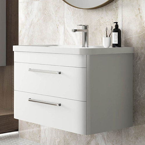Hudson Reed Solar Matt White Wall Hung Vanity Unit