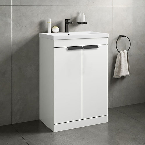 Stockholm 2 Door Gloss White Vanity Unit
