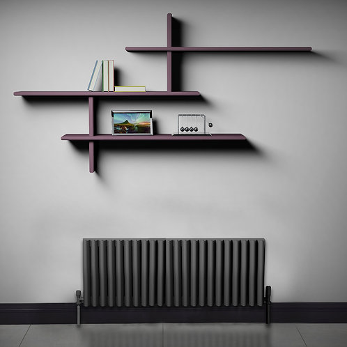 Verona Anthracite 350 x 1040mm Horizontal Designer Radiator