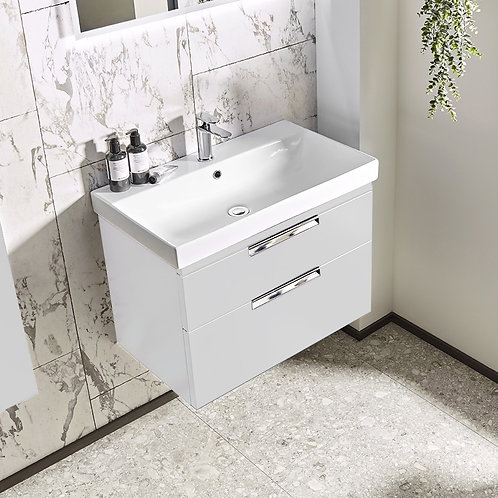 Platform Wall Mounted Wash Unit Gloss White
