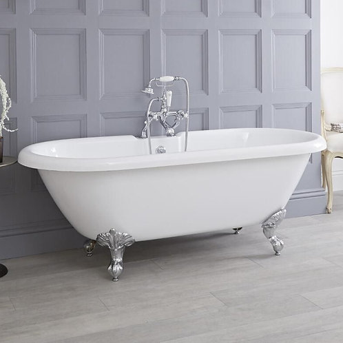 Traditional Dual Slipper Freestanding Acrylic Bath