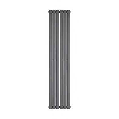 Nika 1800 x 420mm Double Anthracite Vertical Radiator