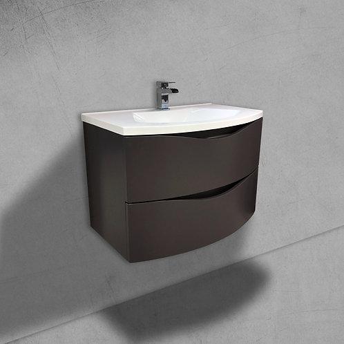 Cascade 800mm Grey Wall Hung Vanity Unit