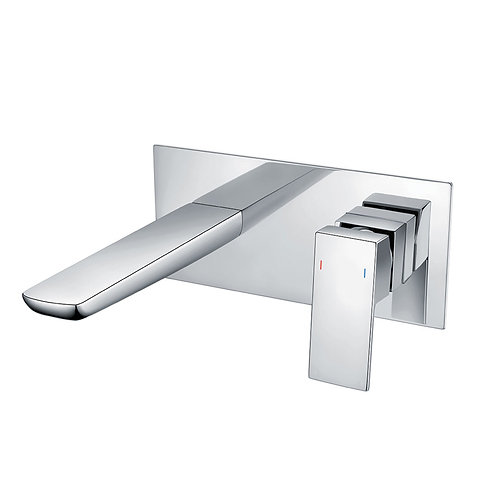 Velar Chrome Wall Mounted Basin Mono