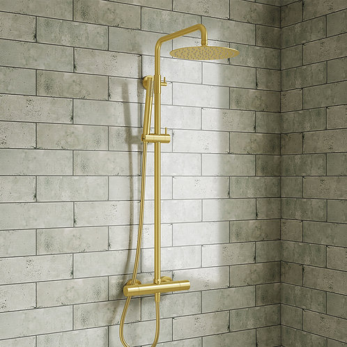 Aires Brushed Brass  Shower Kit