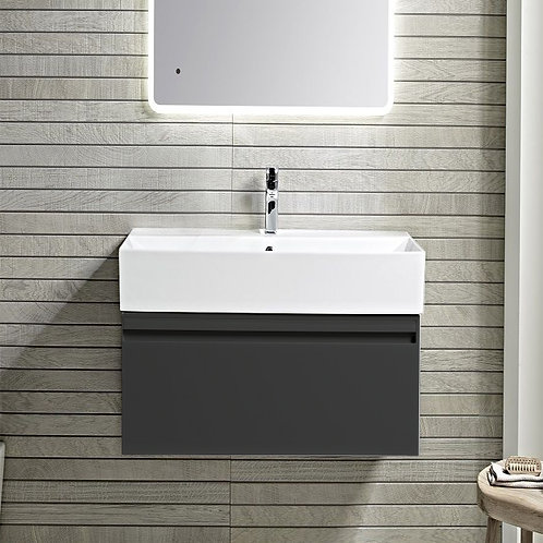 Forum Dark Grey Wall Hung Vanity Unit