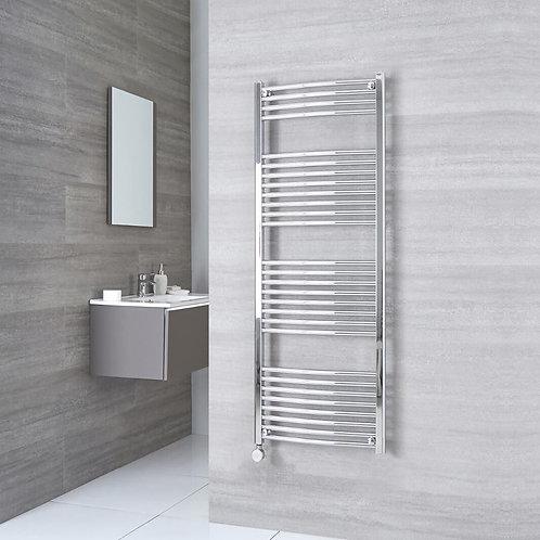 Aldo Chrome 1500 x 600mm Curved Heated Towel Rail