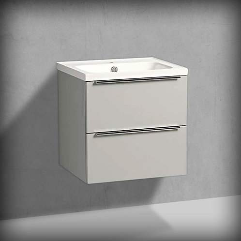 Cadence Gloss Light Grey Wall Hung Vanity Unit