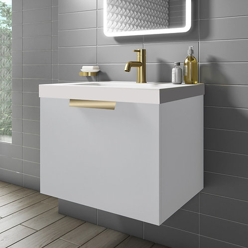 Stockholm 500mm Wall Hung Vanity Unit White