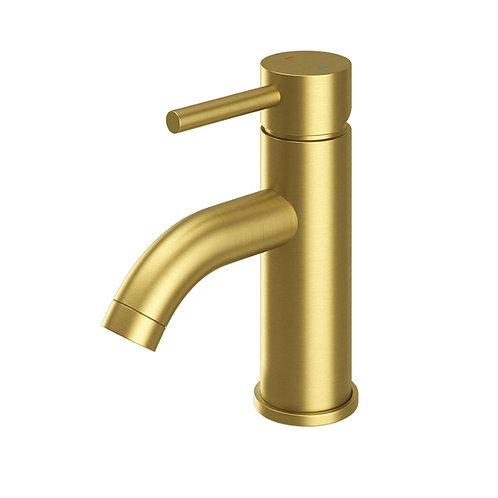 Oro Brushed Brass Basin Mono Tap