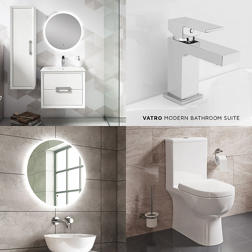 Vatro Modern Bathroom Suite