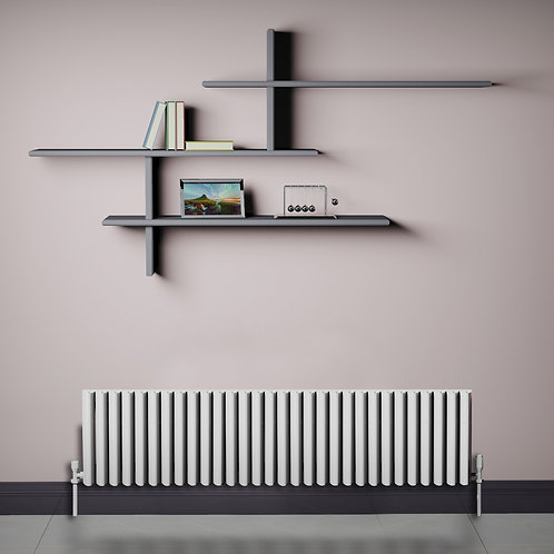 Verona White 350 x 1420mm Horizontal Designer Radiator