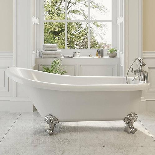 Traditional Single Ended Slipper Freestanding Acrylic Bath