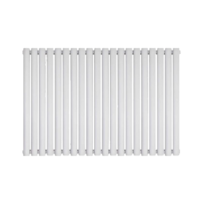 Nika 600 x 1400mm Double White Horizontal Radiator