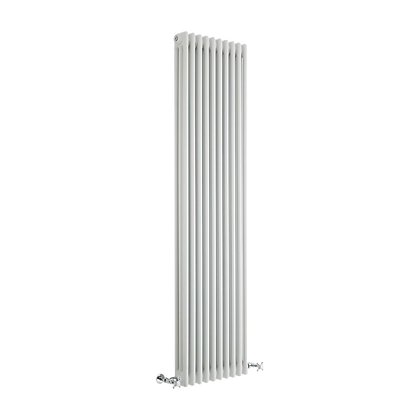 Tradicio 1800 x 470mm White Vertical Three Column Radiator
