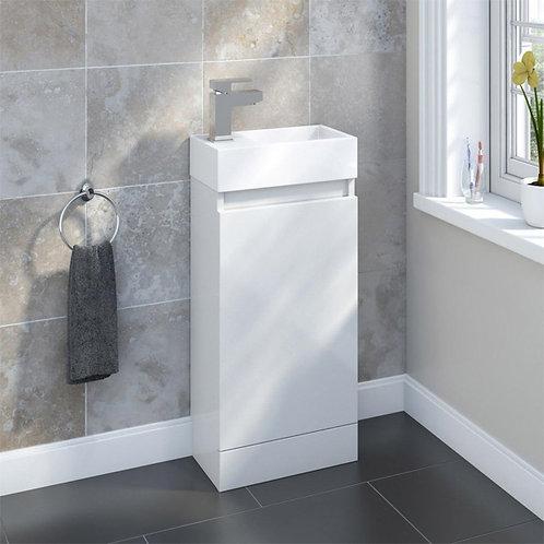 Benni 460mm White Floorstanding Cloakroom Unit