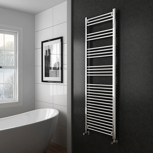 Aldo Chrome 1800 x 600mm Straight Heated Towel Rail