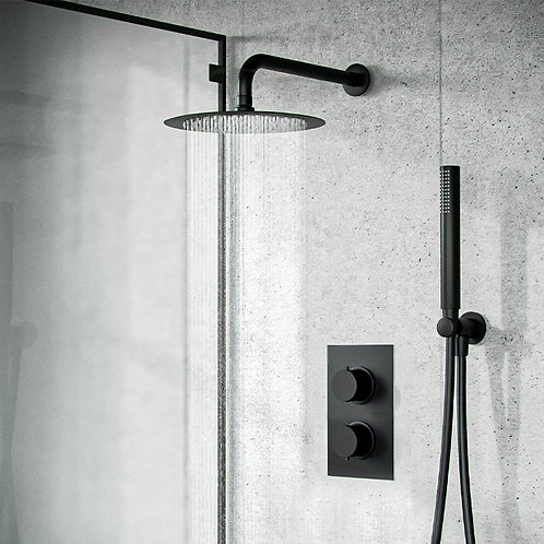 Bravo Black Concealed Shower Kit