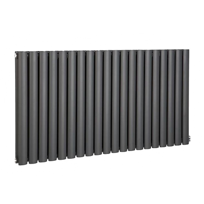 Nika 600 x 1400mm Double Anthracite Horizontal Radiator