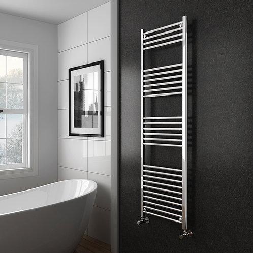 Aldo Chrome 1500 x 500mm Straight Heated Towel Rail