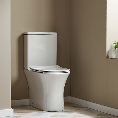 Radar Close Coupled WC Pan, Cistern & Soft Close Seat