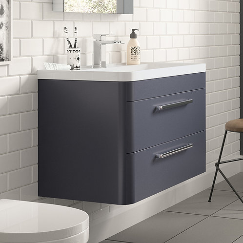 Hudson Reed Solar Indigo Blue Wall Hung Vanity Unit