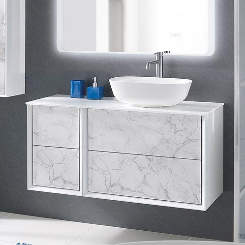 Messina White Onyx Vanity Unit & Compliment Unit
