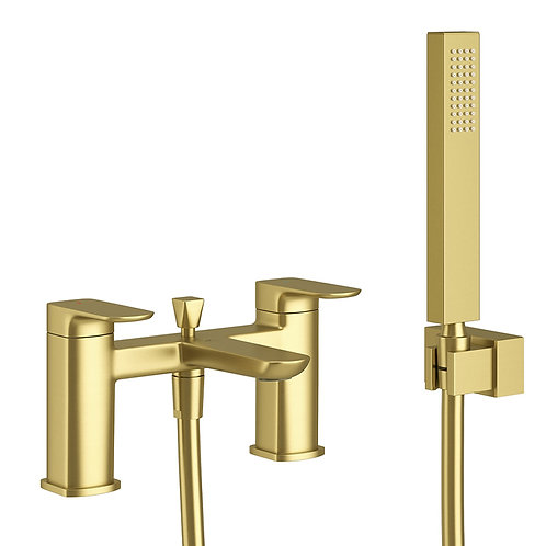 Pure Brushed Brass Bath Shower Mixer Tap