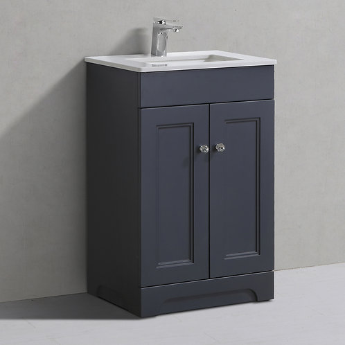Hyde Charcoal Freestanding Vanity Unit