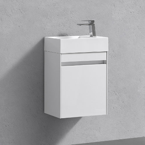 Benni 460mm White Wall Hung Vanity Unit