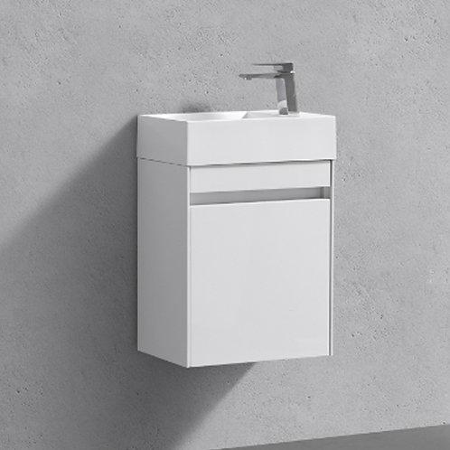 Benni 460mm White Wall Hung Vanity Unit