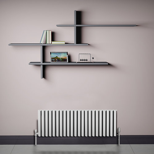 Verona White 350 x 1040mm Horizontal Designer Radiator