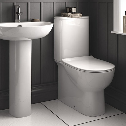 Cosmo OB Toilet Pan, Cistern & Soft Close Seat