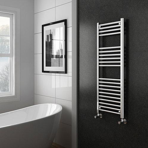 Aldo Chrome 1200 x 400mm Straight Heated Towel Rail