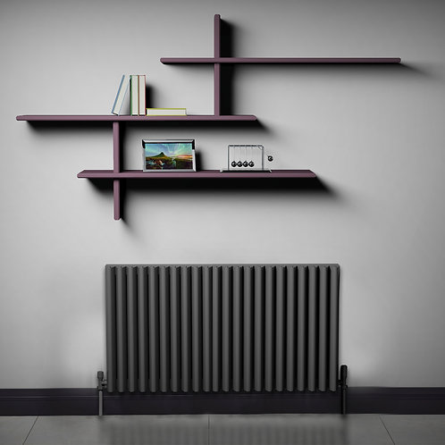 Verona Anthracite 550 x 880mm Horizontal Designer Radiator