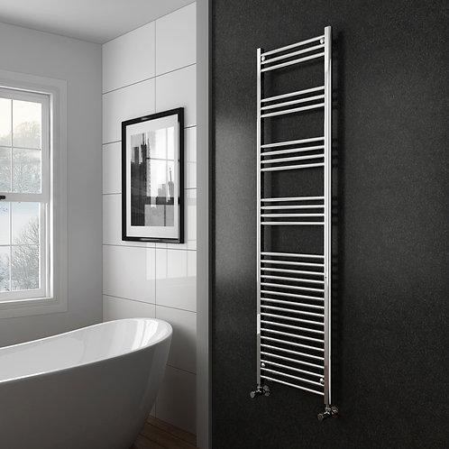 Aldo Chrome 1800 x 400mm Straight Heated Towel Rail